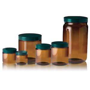 Qorpak 茶色直筒玻璃樣本瓶