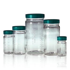 Qorpak 直筒玻璃樣本瓶 附刻度
