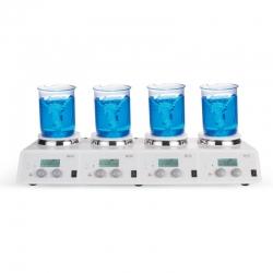 電磁加熱攪拌器 四點式 5吋圓盤 MS-H340-S4 340℃