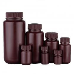 塑膠廣口試劑瓶 茶色 PP