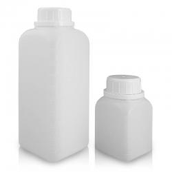 塑膠廣口原封方瓶 PE
