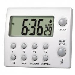 電子計時器 四組式附時鐘