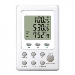 電子計時器 三組式附時鐘