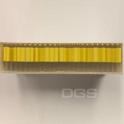 拋棄式試管-黃色書寫區 12x75 250/bx