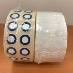 冷凍標籤 11mm 藍圓圈&白色 隨機出貨