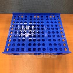 PP試管架 藍色/白色 120孔
